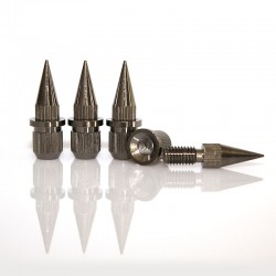 Metall-Spikes, 4er-Set, schwarz