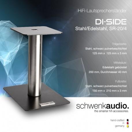 DI-SIDE HiFi-Lautsprecherständer - Stahl/Edelstahl
